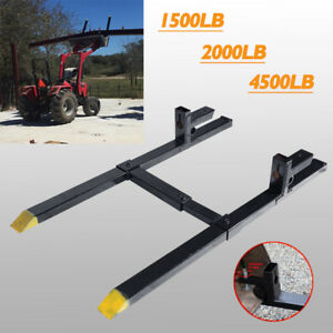 1500lb 2000lb 4500lb Clamp On Pallet Forks Loader Bucket Tractor Stabilizer Bar