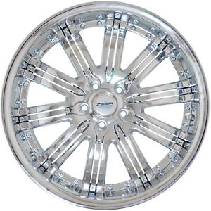 4 Gwg Wheels 20 Inch Chrome Inserts Narsis Rims Fits Oldsmobile Intrigue 2000 04