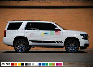 Sticker Decal Side Racing Stripe Kit For Chevrolet Tahoe 2015 2018 Molding Guard
