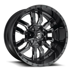 Fuel Sledge D595 Rim 18x9 8x165 1 Offset 20 Gloss Black Milled Quantity Of 4