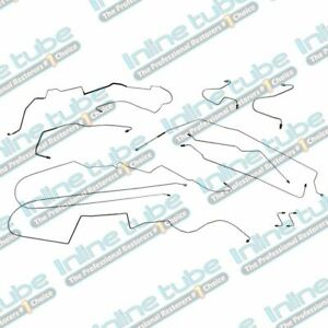 2000 05 Buick Century Preformed Brake Line Set Kit With Abs Rear Drum Stainless