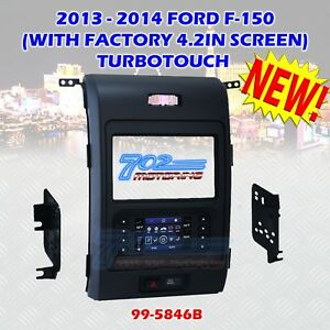 Metra 99 5846b 2013 2014 Ford F 150 Turbo Touch Double Din Dash Bezel Kit Wire
