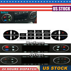 Ac Dash Button Repair Kit Decal Stickers Dash Replacement For Select Gm Vehicles