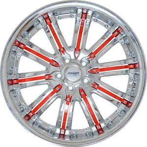 4 Gwg 20 Inch Staggered Chrome Red Narsis Rims Fits Jaguar Xkr 2007 2015