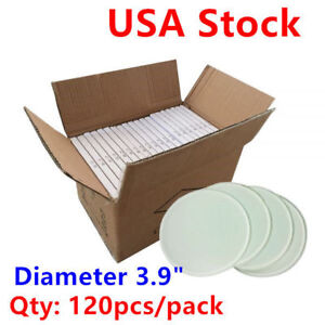 Usa 120pcs Diameter 3 9 Round Tempered Glass Sublimation Blank Glass Coaster