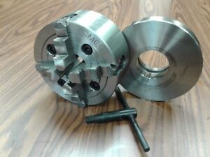 6 4 jaw Lathe Chuck W Independent Jaws W L00 Adapter Semi finished 0604f0
