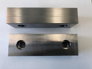 6 X 1 7 8 X 1 3 8 Machinable 4 Sided Steel Soft Jaws For Kurt 6 Vises Usa