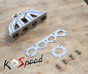 Stainless Td05 Flange Exhaust Turbo Manifold For 90 93 Mazda Miata Mx 5 Mx5 1 6