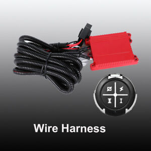 1x Wiring Harness Kit Remote Control Fuse Work For Dual Color Led Light Bar 12v