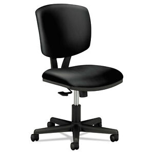 Hon Volt Series Task Chair With Synchro tilt Black Leather 5703sb11t