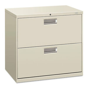 Hon 600 Series Two drawer Lateral File 30w X 19 1 4d Light Gray 672lq
