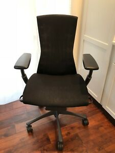 Herman Miller Embody Chair Graphite Frame black Balance Textile Great Deal