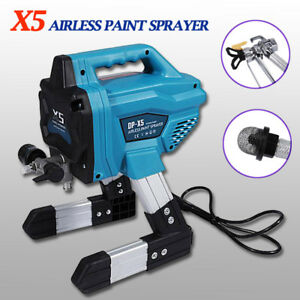X5 Airless Electric Paint Sprayer Spray Gun Tip Painting House Tool Convenient