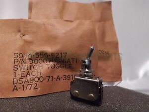 Honeywell 6at1 1972 Vintage Micro Toggle Switch Lot X3 Nos