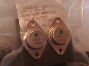 Solitron Sdt411 Sdt 411 Vintage Power Transistor Lot X2 Nos