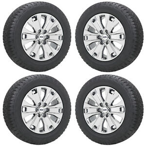20 Ford F150 Truck Pvd Chrome Wheels Rims Tires Factory Oem Set 4 10065
