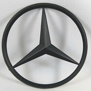 Matte Black Trunk Star Rear Badge Emblem For Mercedes Benz 3 80mm Usa Ship
