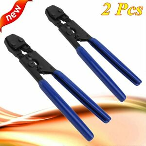 Pair Pex Cinch Crimp Crimper Crimping Tool For Ss Clamps Sizes From 3 8 To 1 H