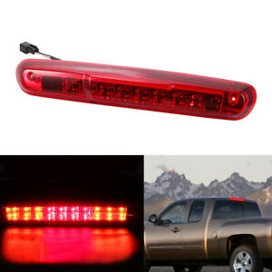 Red Truck 3rd Brake Light Lamp Led For 2007 2013 Chevy Silverado Gmc Sierra 1500