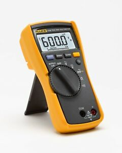 Fluke Electrical Multimeter 114 Hvac Utility Bar Graph Backlit Led W holster