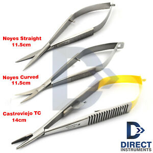 Tc Castroviejo Needle Holder Forceps Micro Surgery Spring Iris Noyes Scissors Ce