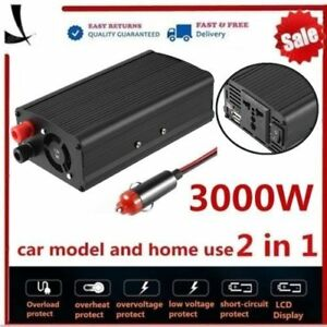 4000w 3000w Dc 12v To Ac 110v Modifide Wave Car Power Inverter Usb Charger Q