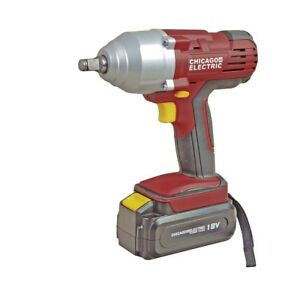 Chicago Electric 18 Volt 1 2 In Cordless Impact Wrench