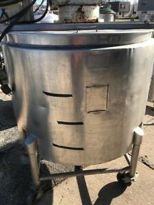 200 Gallon Stainless Steel Jacketed Tank With Side Wall Sweep Agitation