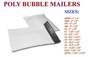 5 3000 Poly Bubble Padded Envelopes Mailers 000 00 0 cd 1 2 3 4 5 6 7