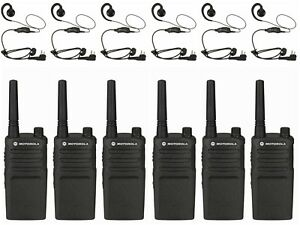 6 Motorola Rmm2050 Vhf Two way Radios With Headsets Rebate