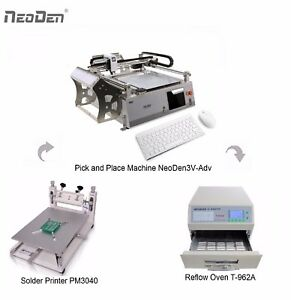 Desktop Smd Pick And Place Machine 42 Feeders Neoden3v adv Pm3040 T 962a 0402