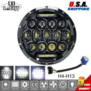 7 100w Led Projector Headlight For Kawasaki Vn Vulcan 500 750 800 900 1500 1600