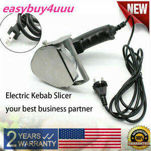 110v 80w Electric Kebab Slicer Gyros Knife Shawarma Cutter Doner Meat Carver Us