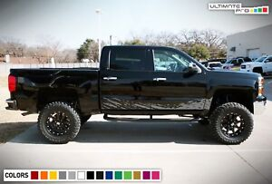 Decal Sticker Vinyl Side Mud Splash For Chevrolet Silverado Flap Kit Bed Cover