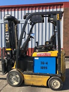 Free Freight To 48 States 2015 Yale Erc045vgn Electric 4500lb Ssfp Forklift