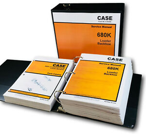 Case 680k Tractor Loader Backhoe Service Manual Parts Catalog Shop Book Set Ovhl