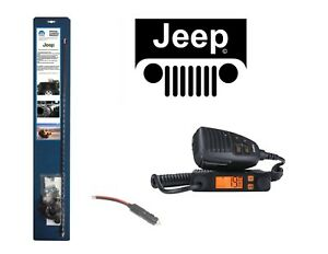 New Uniden Cmx660 Cb Radio 07 Up Jeep Wrangler 3 Antenna Combo Kit W Coax