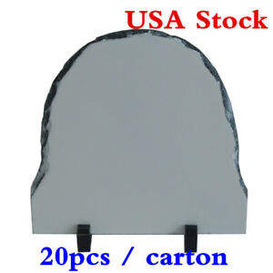 Usa Stock 20 X 20cm Semi oval Sublimation Photo Slate With Stand