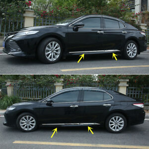 New Stainless Steel Chrome Body Molding Door Trim For Toyota Camry 2018 2020