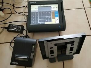Micros Workstation 4lx System Point Of Sale System Series E7 W printer As Is