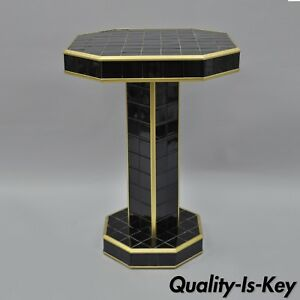 Art Deco Porcelain Bathroom Tile Pedestal Table Stand Black Vintage Custom 31 H