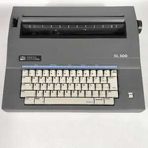Smith Corona Sl 500 Portable Electric Typewriter With Cover Manual Included