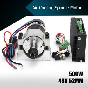 48v 500w Air Cooling Spindle Brushless Motor 52mm Clamp speed Governor Er16