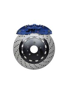 Jpm Rs Big Brake 6pots Caliper Anodized Blue 15 Drill Disc For Corvette C7
