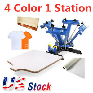 Us 4 Color 1 Station Screen Printing Press Machine Screening Pressing