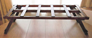 Primitive Unique Wooden Wash Tub Plant Stand Clothes Herbs Rack Sofa Table Bench