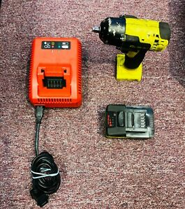 Used snap on Ct8810ahv 3 8 Dr 18v Lithium Cordless Yellow Impact Wrench Kit