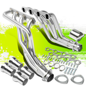 2pcs Long Tube Exhaust Manifold Headers For 80 96 Ford F100 f350 Bronco 5 0l V8