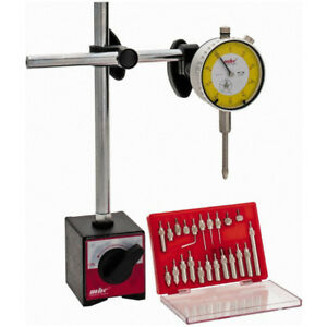 0 1 Dial Drop Indicator With Magnetic Base Holder And 22 Pc Point Kit
