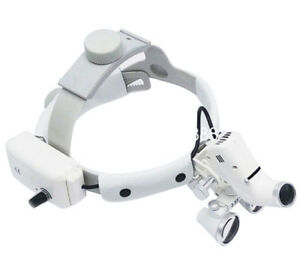 3 5x 420 Headband Binocular Dental Loupes Surgical Loupes Headlight Magnifier A